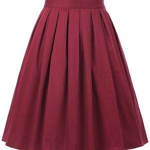 Vintage Flare Pleated Skirt - Grace Karin XXL